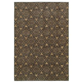 Picture of Medallion Area Rug- Green 5x7-ft