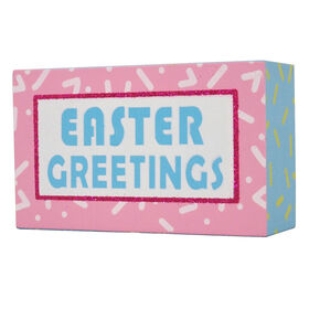 Picture of Easter Greetings Sign- 5 in.