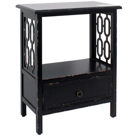 Picture of 1 Drawer Wood Chain Cabinet - Black