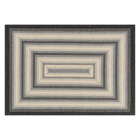 Picture of D322 Grey Braid Rug- 5x8 ft