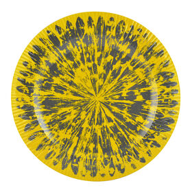 Picture of Yellow and Gray Melamine Salad Plate - Tie Die