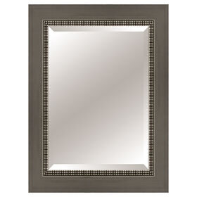 Picture of 22 X 28-in Gunmental Beaded Mirror