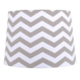 Picture of Gray Chevron Print Lamp Shade 12X14X10