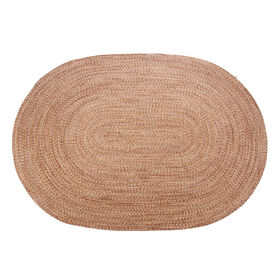 Picture of Brown Braided Multicolor Oval Rug 5 X 7 ft