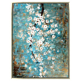 Picture of 36 x 48 White Blossoms on Textured Canvas