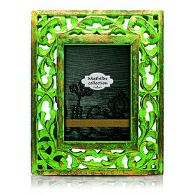 Picture of 4 X 6-in Distressed Green and Gold Pasha Frame