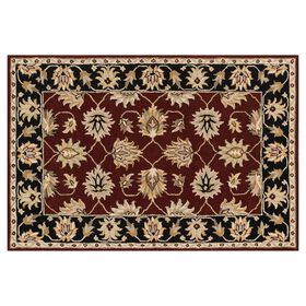 Picture of A214 Red and Black Persian Rug