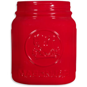 Picture of 8-in Mason Ceramic Jar, Red