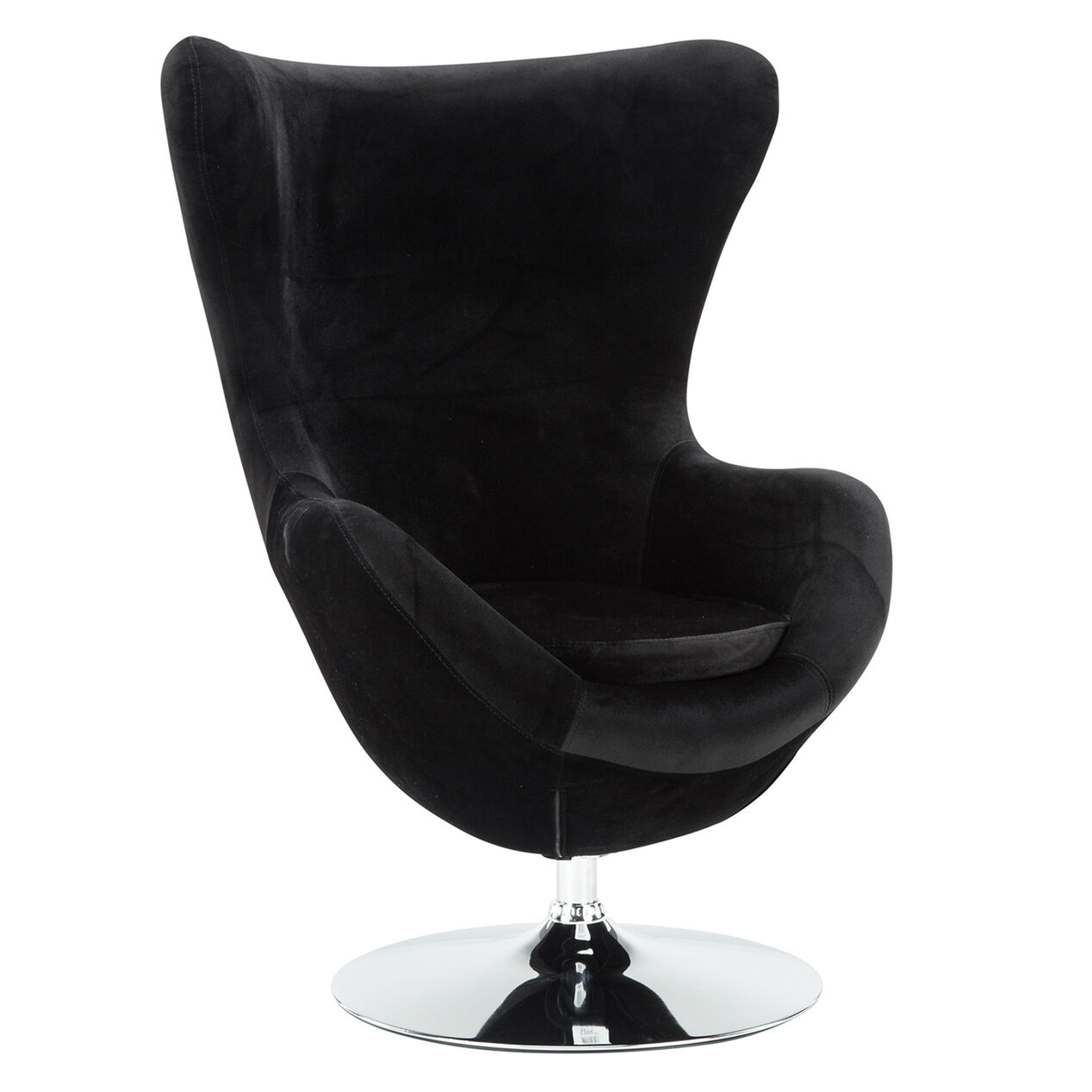 icon velvet egg chair black at home. Black Bedroom Furniture Sets. Home Design Ideas