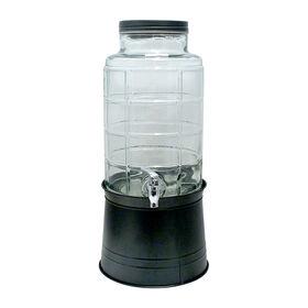Picture of Big Window 2.4 Gallon Beverage Dispenser with Galvanized Base