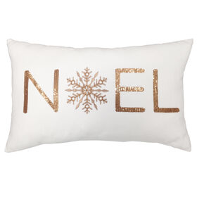 Picture of Noel Gold Christmas Pillow 13x22