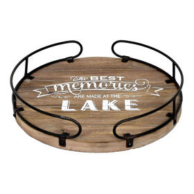 Picture of Wood Metal Memories Tray 13.5-in