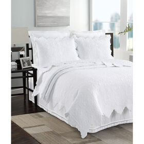 Picture of White Coquillage Coverlet with Sham, King
