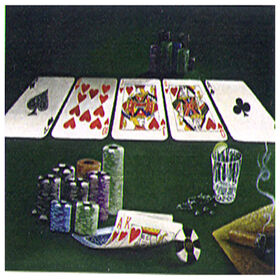 Picture of 24 X 36-in Card Stack and Chips Canvas