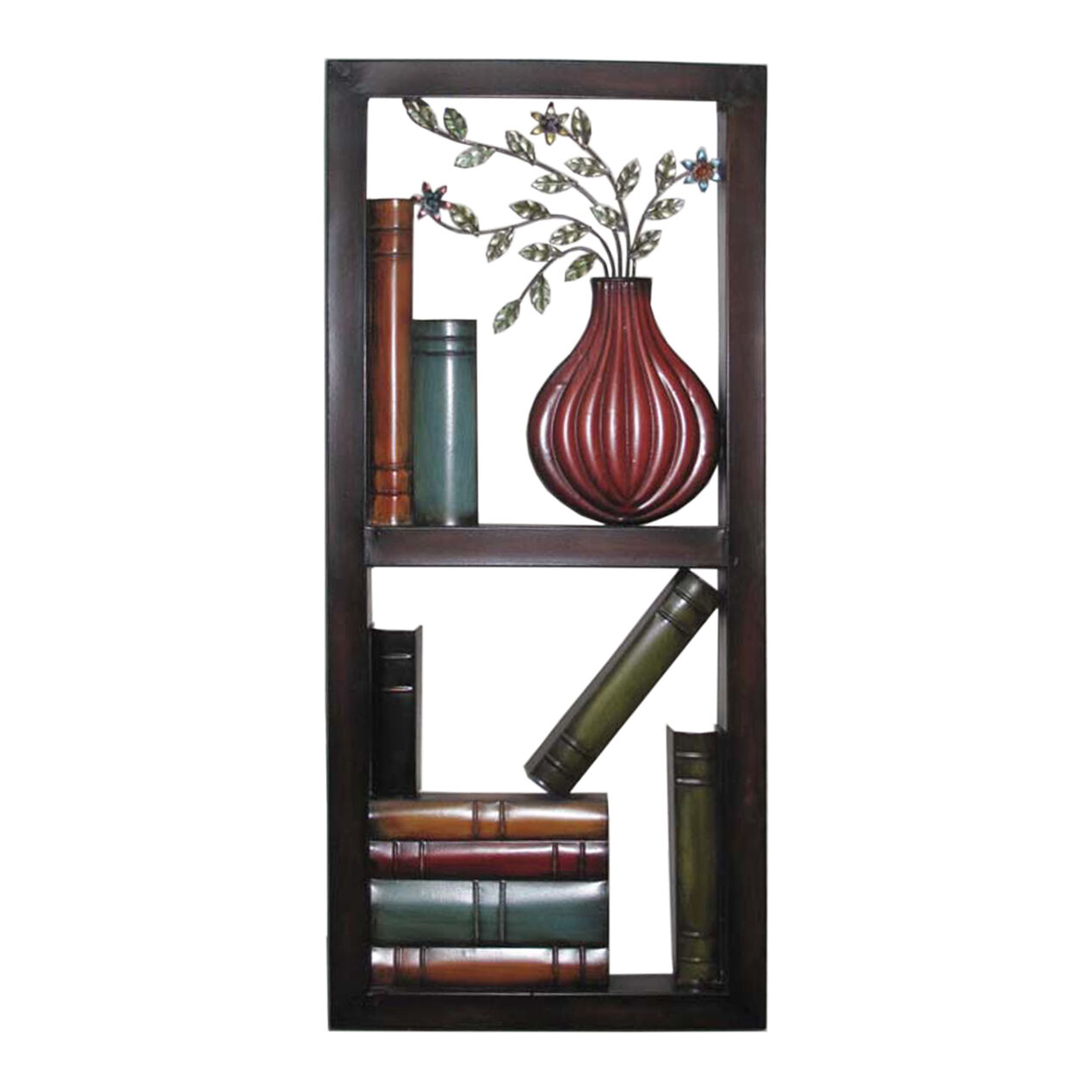 13 X 30 In Metal Library Wall D Cor At Home