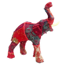 Picture of Red Patchwork Elephant Figurine