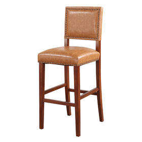 Picture of Brooke 30-in Studded Barstool - Caramel