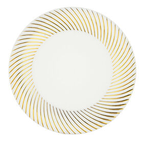 Picture of White & Gold Swirl 10-in Plates- Set of 10