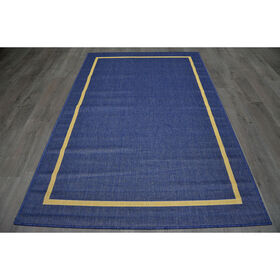 Picture of E102 Blue Border Rug