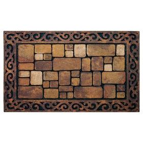 Picture of Brown Cobblestone Aberdeen Doormat 18 X 30-in