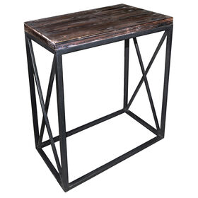Picture of Metal & Wood X-Table 24x27-in