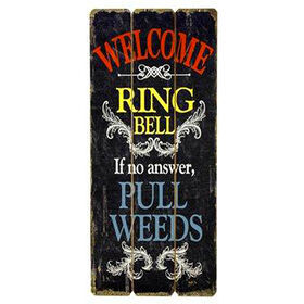 Picture of Wooden Garden Sign- Black