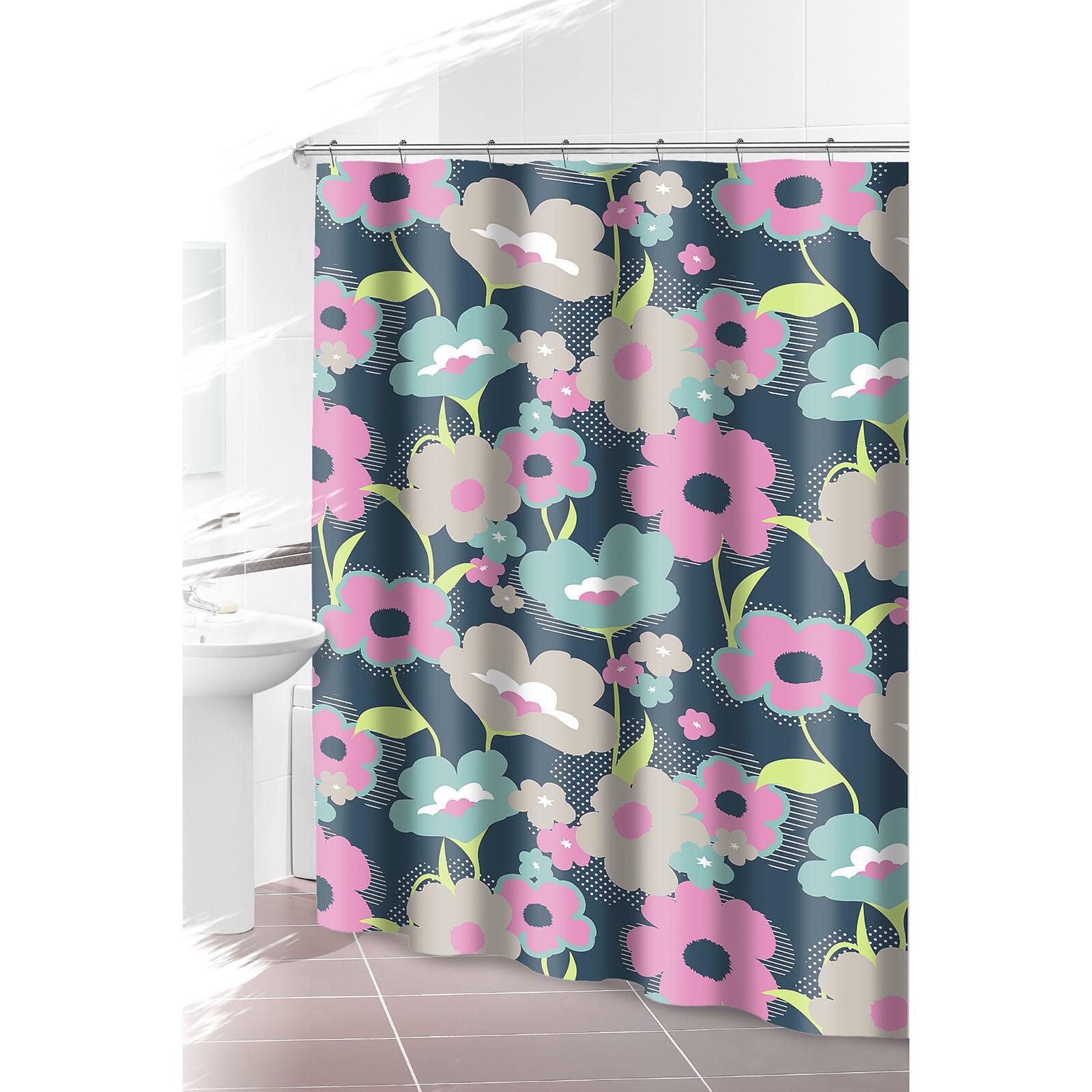 Pink Daisy Shower Curtain
