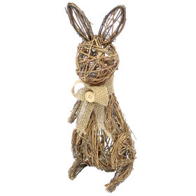 Picture of 11.5IN NATURAL BUNNY DECOR