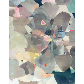 Picture of Geodes Arrowheads Abstract Art- 22x28 in.