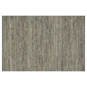 Picture of B294 Grey Edge Leather Jute Rug-5x8 ft