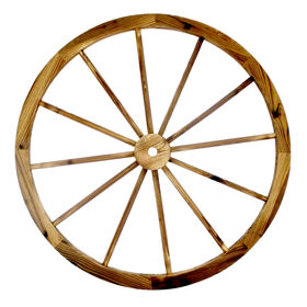 Picture of 36-in. Wood Wagon Wheel Patio Décor
