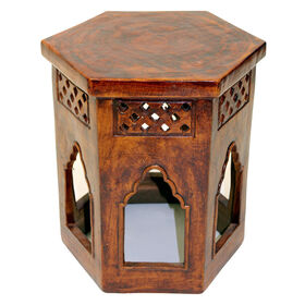 Picture of Hexagon Rust Morrocan Table 17H
