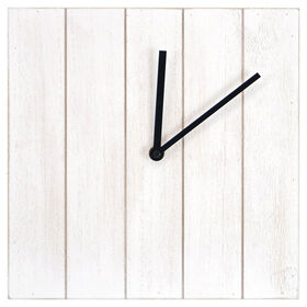 Picture of White Wood Block Clock- 10x10 in.