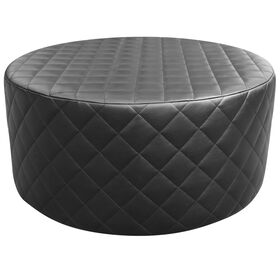 Picture of Cosmo Black Tufted Round Ottoman