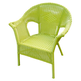 Picture of Lime Green Wicker Chair