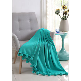Picture of Turquoise Montego Pom Throw