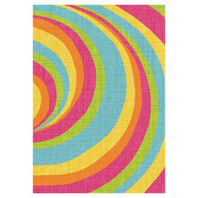 Picture of D146 Bright Multicolor Vortex Rug