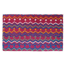 Picture of Pink Chevron Coir Doormat 18 X 30-in