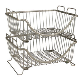 Picture of Ashley Stacking Basket Tray - Nickel
