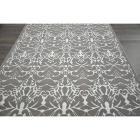 Picture of B19 Grey Damask Rug