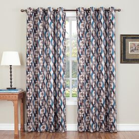 Picture of Stone Nova Pattern Window Curtain Panel 84-in