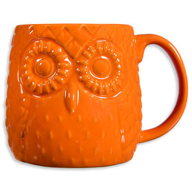 Picture of Orange Embossed Owl Mug- 20oz