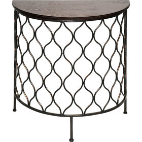 Picture of Nested Steel Onion Half-Moon Table- Small (Sold Separately)