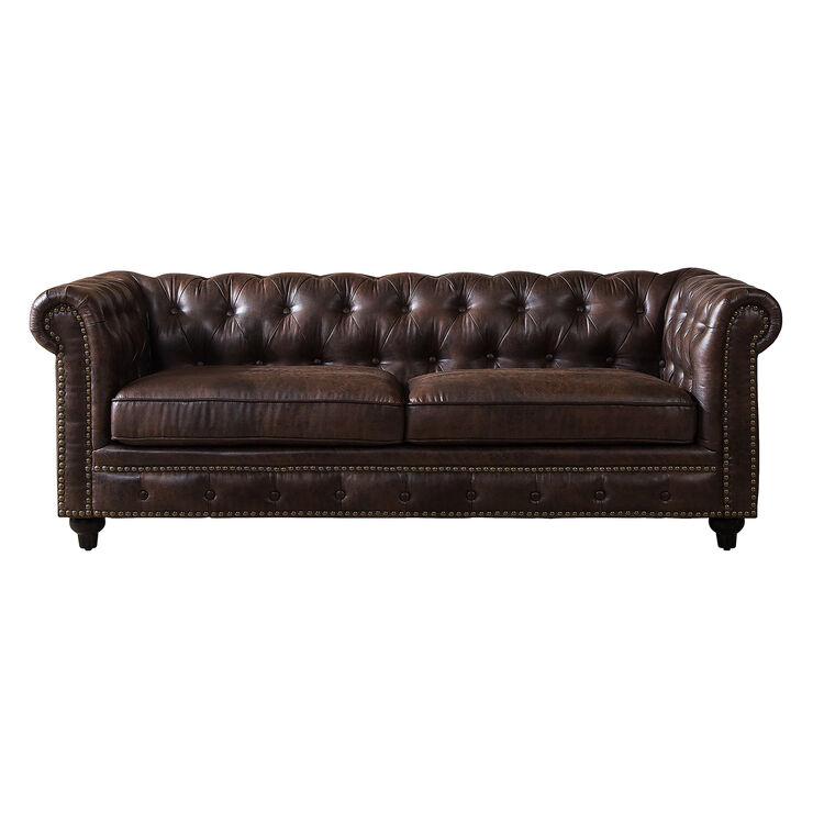 Chesterfield Brown Sofa