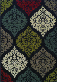 Picture of B104 Black Medallion Wyndham Rug