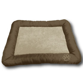 Picture of Chocolate and Tan Paw Embossed Pet Bed 30X21