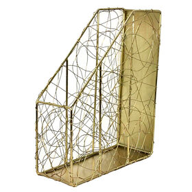 Picture of WIRE MAGAZINE HOLDER GOLD