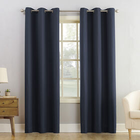 Picture of Navy Montego Window Curtain Panel 95-in