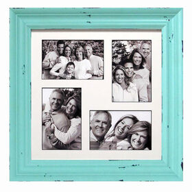 Picture of 12 X 12-in Distressed Light Blue Collage Picture Frame