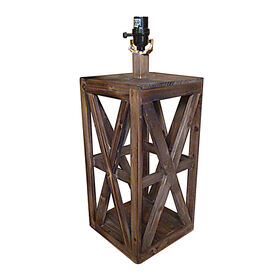 Picture of Wood Lantern Look Lamp Base - 16 in.